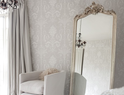 laura ashley patricia silver floor mirror