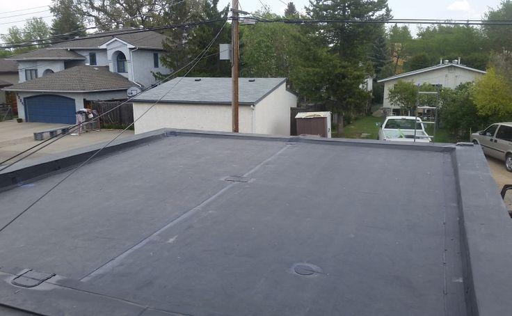 Stock image of EPDM installation.