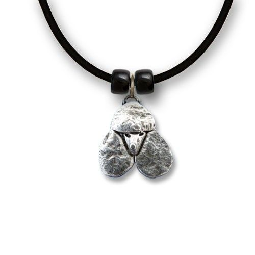 """Handcrafted Pewter #Poodle Necklace on an 18"""" rubber cord: http://www.themagiczoo.com/pewter-poodle-necklace.html $19"""