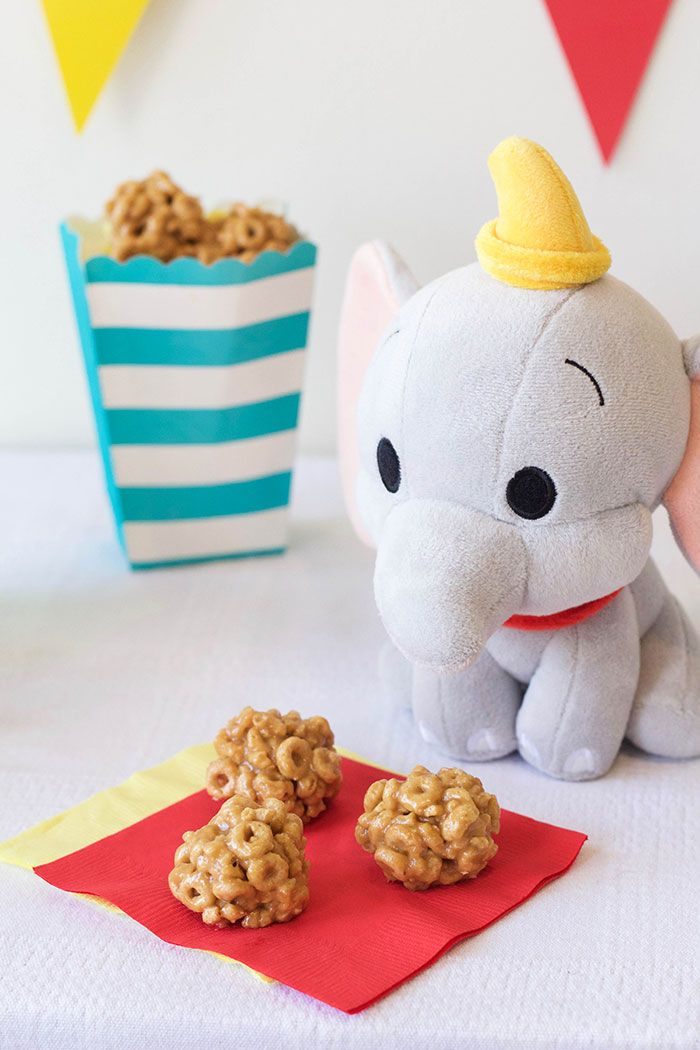 Dumbo's circus peanut butter clusters are easy-to-make, and the perfect size for sharing.