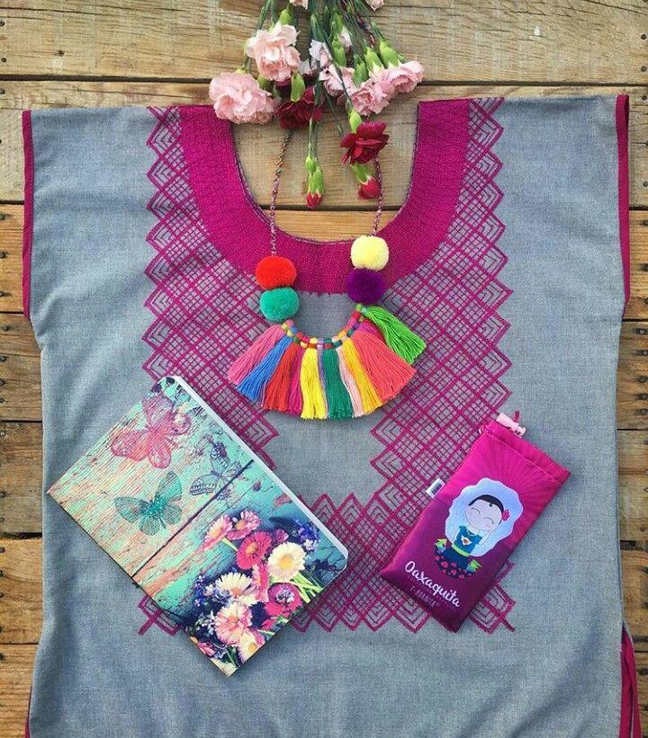 #hilodenubeoaxaca Hilo de Nube Oaxaca design mexicanas blouse, necklace, Artisan work