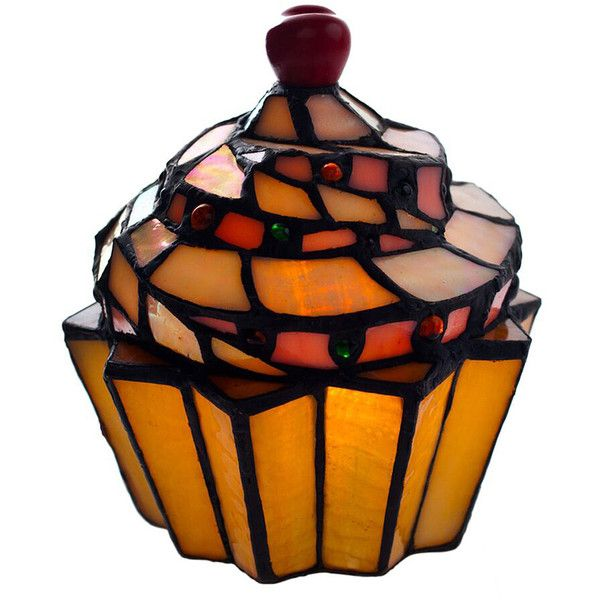 River of Goods Cupcake Accent Lamp ($35) ❤ liked on Polyvore featuring home, lighting, round lamp, craftsman style lighting, arts and crafts lamp, arts and crafts lighting and craftsman lighting