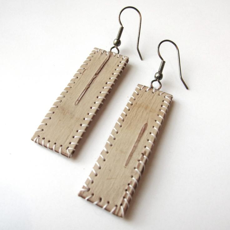 Birch Bark Earrings