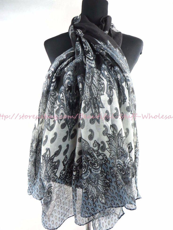 US SELLER- vintage paisley maxi scarves sarong wholesale fashion clothing | eBay