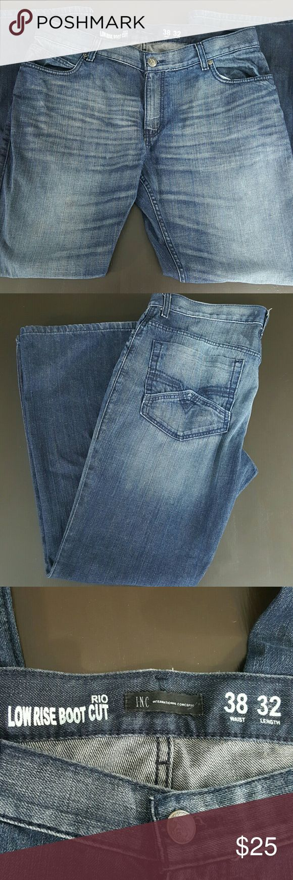 INC Rio Low Rise Boot Cut Jeans 38x32 Inc Rio Low Rise Boot Cut size 38x32 great condition INC International Concepts Jeans Bootcut
