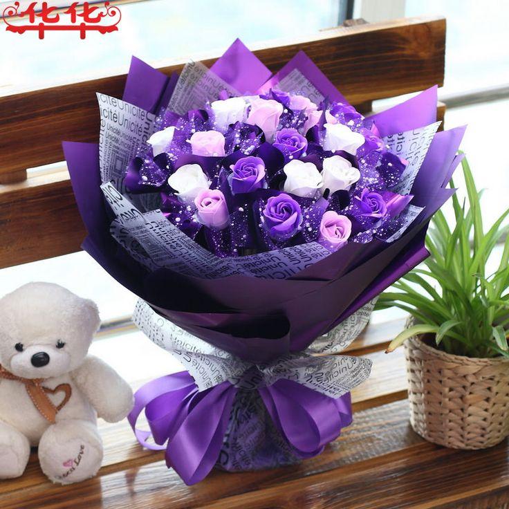 Эфирное масло мыло розы букеты послал своей подруги жены друзей подруги день рождения, день Святого Валентина Романтика новые и творческие подарки