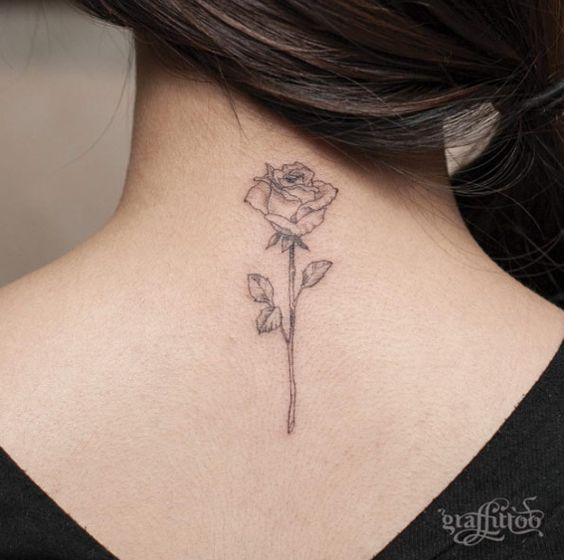 Blackwork Rose Tattoo by River                                                                                                                                                                                 More: