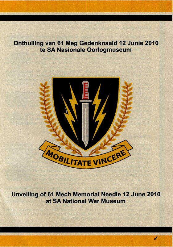 61 Mech veterans club honoring us who did our bid