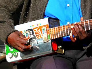 recycled musical instruments.