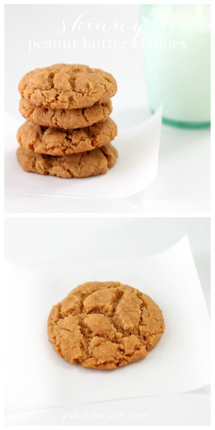 Healthier peanut butter cookies - amazing cookie recipe that's lighter than the original, but you won't taste the difference!