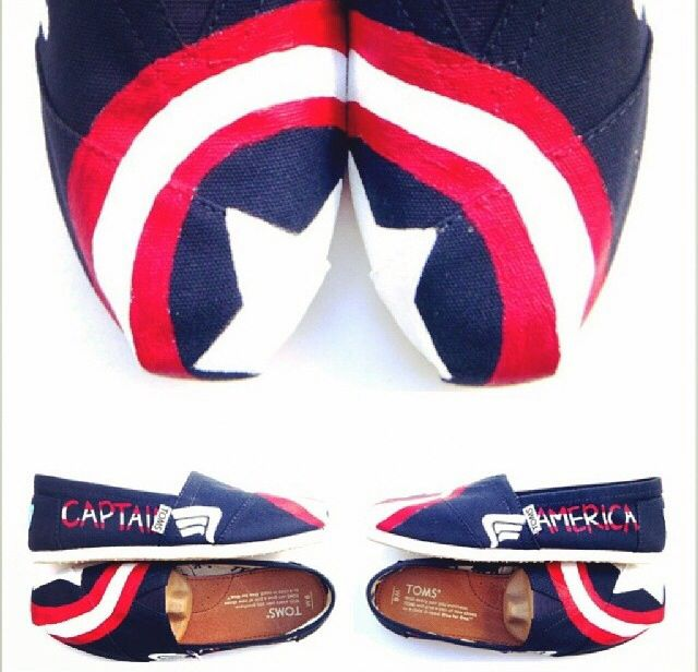 Captian America TOMS!! www.fruitfulfeet.com