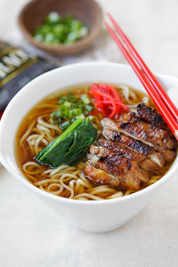 Lemongrass Chicken Soy Sauce Ramen - best instant ramen with chicken. Homemade, easy, simple with Nissin RAOH ramen. So quick and good | rasamalaysia.com