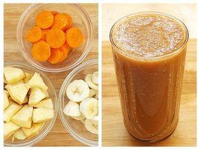 Acest amestec de banană, măr și morcov este un mod gustos și practic de a consuma mai multe fructe și legume crude, și de a ne aproviziona corpul cu mai multe vitamine, minerale, fibre și …