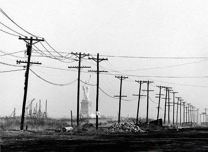Statue of Liberty seen from Jersey City, 1973