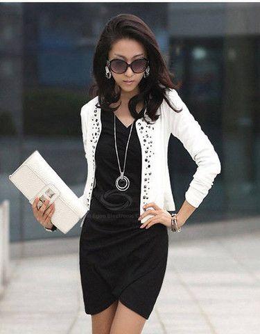 Long Sleeve Studded Embellished Jacket – teeteecee - fashion in style