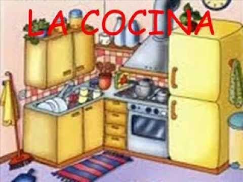 Las partes de la casa en español. Vocabulario español - YouTube