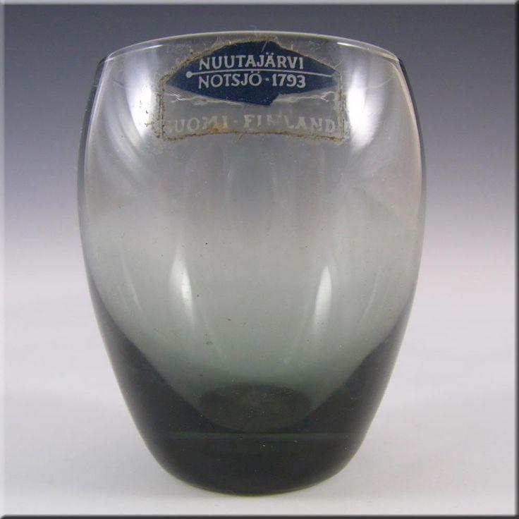 Nuutajarvi/Notsjo 'Marja' Smokey Shot Glass or Mini Vase - £13.49