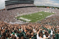 Attend a MSU football game in Spartan Stadium - I've seen them play at The Big House at UMich, but never at MSU!