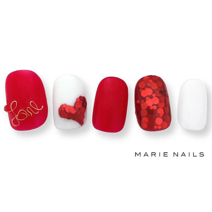 #マリーネイルズ #ネイル #kawaii #kyoto #ジェルネイル #ネイルアート #swag #marienails #ネイルデザイン #naildesigns #trend #nail #toocute #pretty #nails #ファッション #naildesign #ネイルサロン #beautiful #nailart #tokyo #fashion #ootd #nailist #ネイリスト #gelnails #ショートネイル#red #love #heart