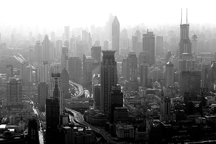 Smog over Shanghai by Paco de la Luz, via 500px
