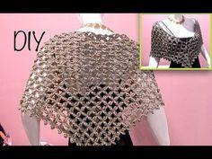 Capa triangular flor punto alargado ganchillo, crochet layer up cape DIY - YouTube