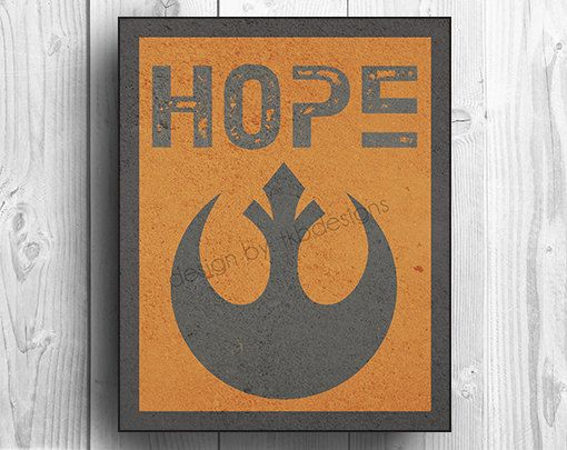 Star Wars Rebel Symbol - HOPE on Etsy, $19.00