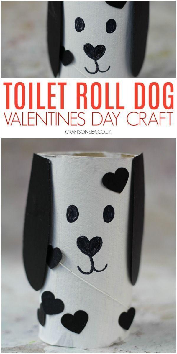 Lindo perro Valentines day rest arte de papel   – Valentinstag
