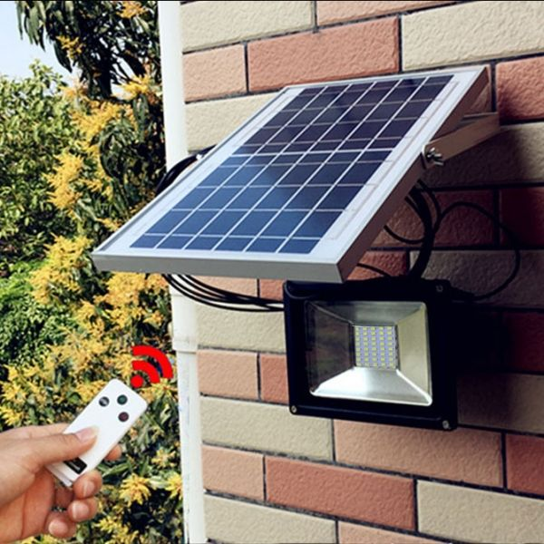 20w 40 Led Solar Powered Flood Light Outdoor Garden Wall Spot Lamp Solar Powered Flood Lights Solar Panels Solar Flood Lights