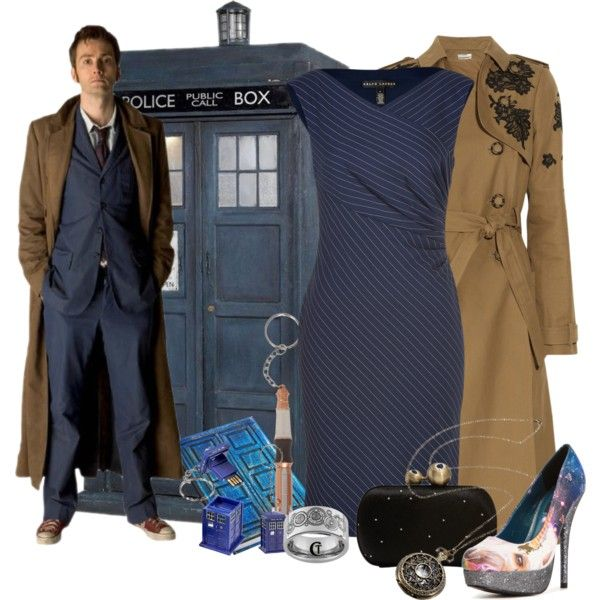 Dr Who by helenrosemay on Polyvore featuring Ralph Lauren Black Label, Erdem, Iron Fist, ELSE, Diane Von Furstenberg, outfit, tardis and dr who