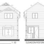Descargar plano de casa 2 pisos 77 m2 (DWG)