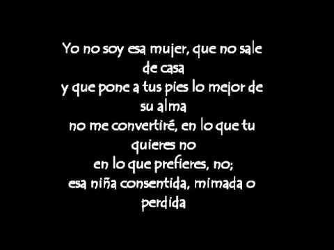Paulina Rubio--Yo no soy esa mujer (con letras)