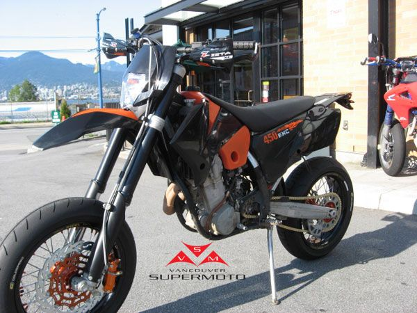 Vancouver Supermoto - 2007 KTM 450 EXC conversion for street with Goldspeed tires