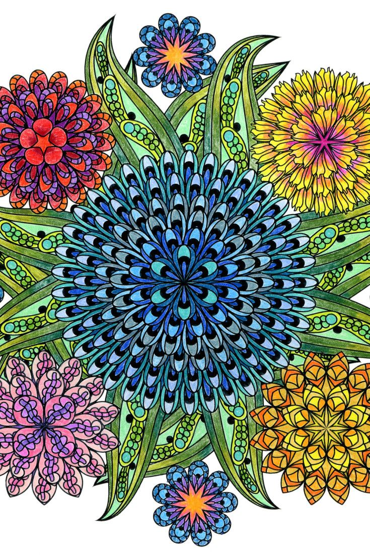 Stress relief coloring pages mandala - This Mandala Coloring Book For Grown Ups Is The Creative S Way To Mindful Relaxation