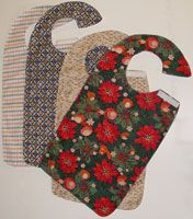 I started making these (except mine are fancier) adult bibs for senior adults