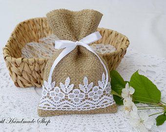 Favore di Candy Bag borsa del regalo di nozze della tela da