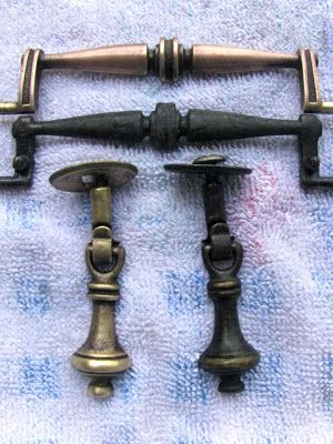 My method for cleaning brass furniture  hardware is very simple.     See how well it works!   I used it to salvage these old pieces.      ...