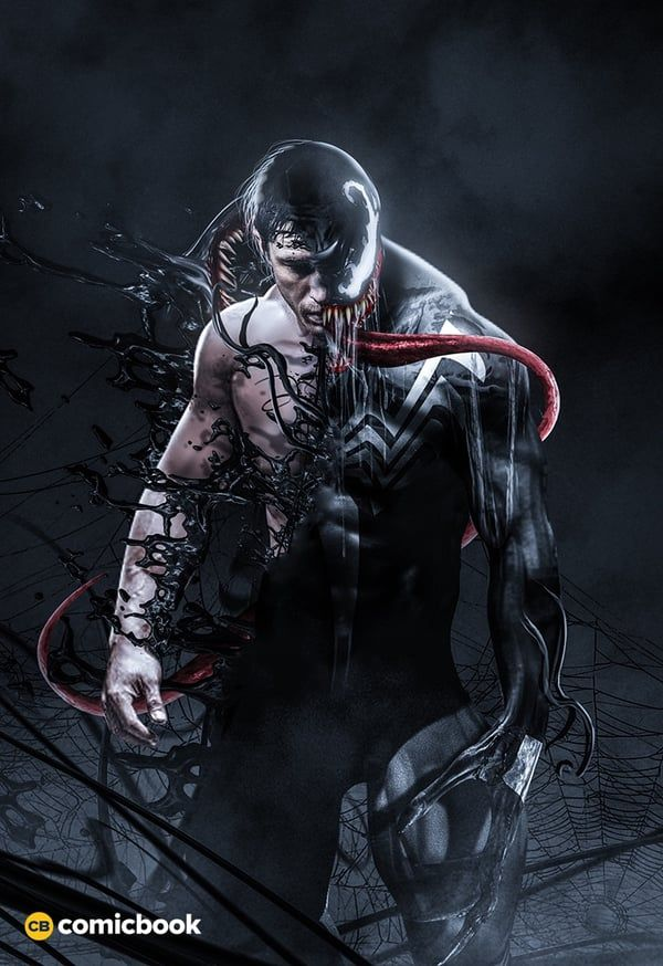 Awesome Fan Art Shows What Tom Hardy Could Look Like As Eddie Brock In 2018's 'Venom'