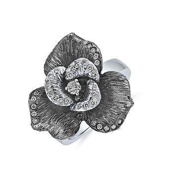 Very elegant ALO diamonds Mystic Magnolia ring