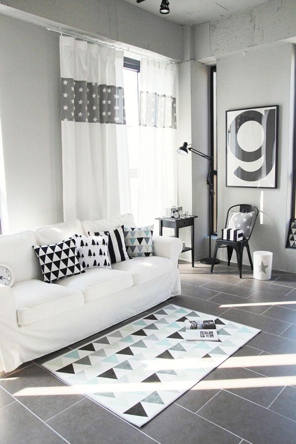 [바보사랑]패턴만 있으면 심심하지 않지! 인테리어/북유럽/화이트/작은집/쿠션/디자인/예쁜/감성/집