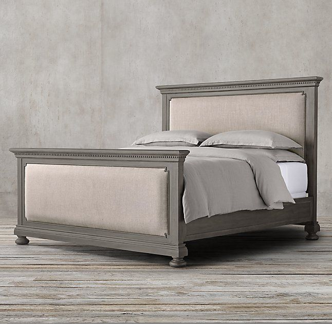 st james upholstered bed with footboard