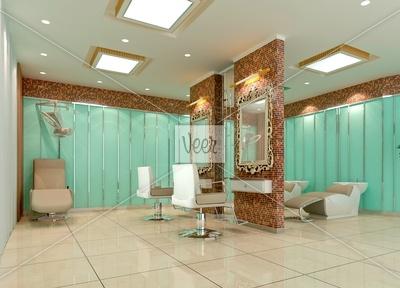 Small Hair Salon Design Ideas | 3D hair salon, barber shop Stock Photo - Veer.com