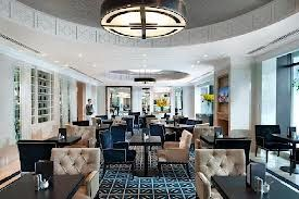 Crown Towers Melbourne entrance - colour ideas only (neutrals, navy and black)  and example of patterned flooring/rug.
