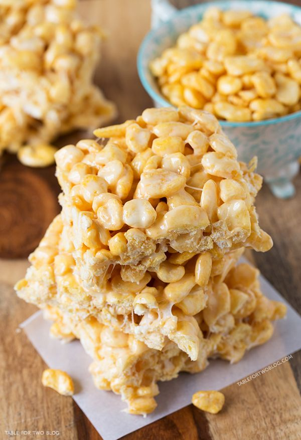 Corn Pop Treats | @Julie Forrest Forrest Forrest Forrest {Table for Two} Don't know what Corn Pops Cereal is but this would be great with GF puffed rice instead.