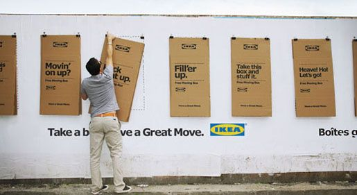 The IKEA Montreal moving day campaign