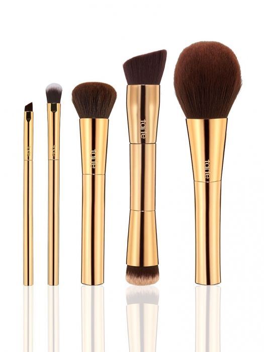 golden tools of the trade brush set from tarte cosmetics - New & Limited Edition - Holiday 2015