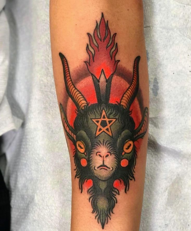 Baby baphomet by the talented christina hock at the