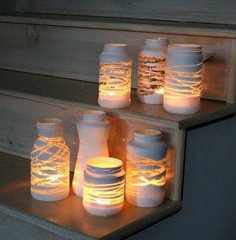 Image result for diy Tea light holders made from painted jars