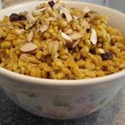 This is a delicious and savory curried barley dish.  It is fabulous as a main dish, or as a side dish with fish or grilled chicken breast. It is quite simple to make and sure to impress!