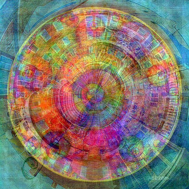 Q. Thomas Bower ~ Six Red Circles, 2009 (mandala)