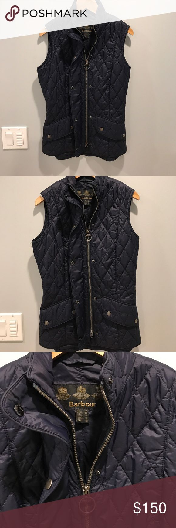 Barbour vest! Size 4! Navy blue! Never worn! New never worn! Barbour Jackets & Coats Vests